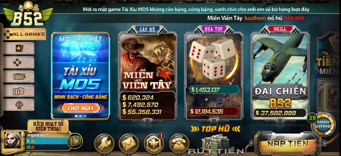 Cổng trò chơi đánh bài tin cấy số 1 tại Việt Nam - B52 Club